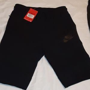 2 pairs boys large Nike sweat shorts nwt